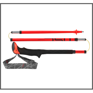 Leki Micro Stick Carbon Trekking Poles - Red - One Pair