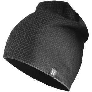 Haglofs Fanatic Printed Beanie Cap - True Black/Magnetite