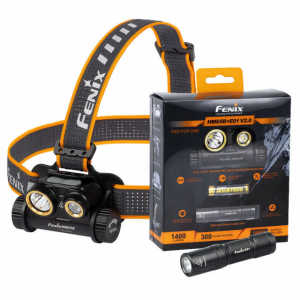 Fenix HM65R 1400 Lumens Rechargeable Headtorch w/ Free E01 V2.0 Miniature Flashlight
