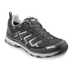 Meindl Activo GTX Wide Fit Walking Shoe - Black/Silver