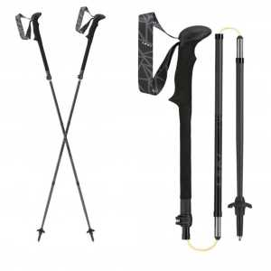 Leki Micro Vario Carbon Black Series Trekking Poles - One Pair