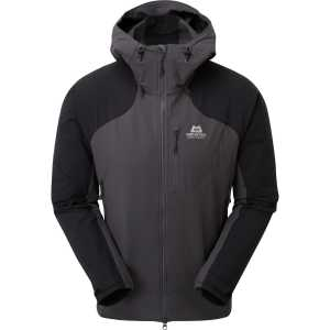 Mountain Equipment Frontier Soft Shell Hooded Jacket - Anvil Grey/Black