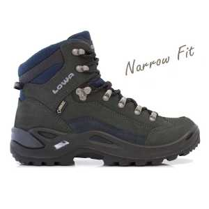 Lowa Renegade GTX Mid Narrow Walking Boot - Dark Grey/Navy