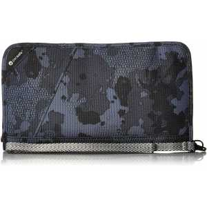 Pacsafe RFIDsafe V200 Anti-Theft RFID Blocking Travel Organiser - Grey Camo (Ex-Sample)