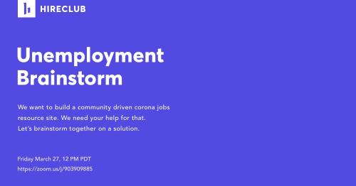 Unemployment Brainstorm