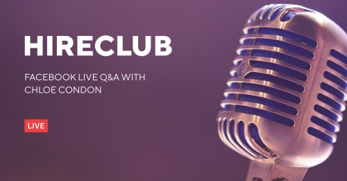 HireClub Live with Chloe Condon