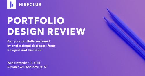 Portfolio Design Review with Designit