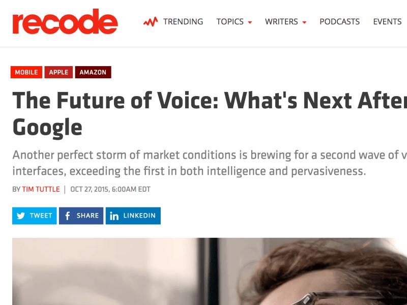Recode article (ghostwritten)