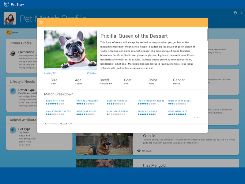 Pet Matching Site