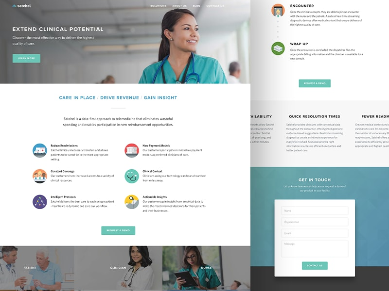 Satchel Health Marketing Website