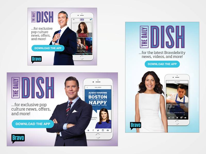 Bravo's The Daily Dish Ad Units