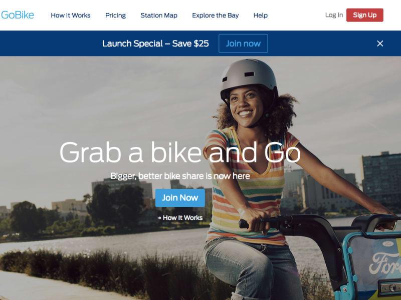 Ford GoBike website