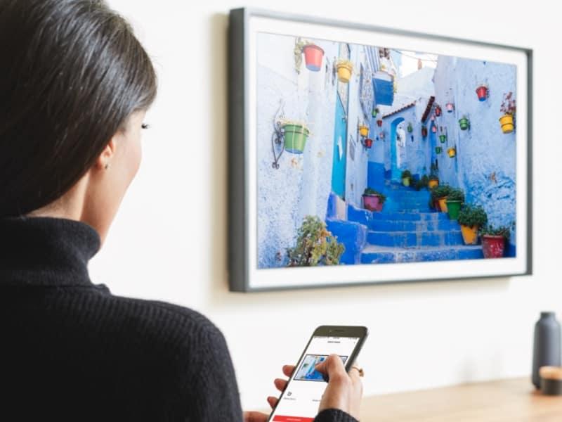 """Depict Frame - 49"""" 4K IoT Digital Canvas Manufacturing"""