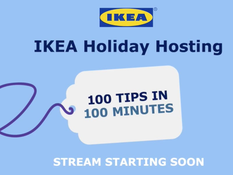 Livestream Ikea's Holiday Special using Telescope's LiveStudio