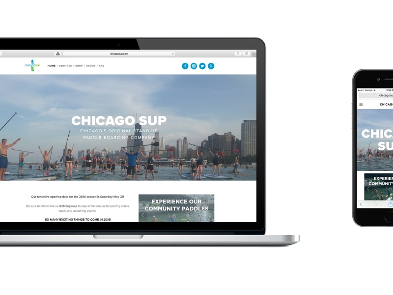 ChicagoSUP Website Design