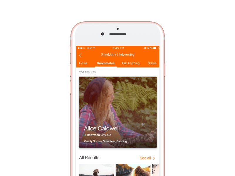 Mobile app for students