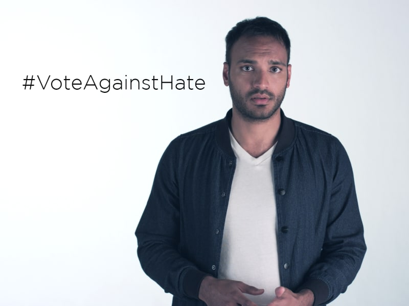 #VoteAgainstHate