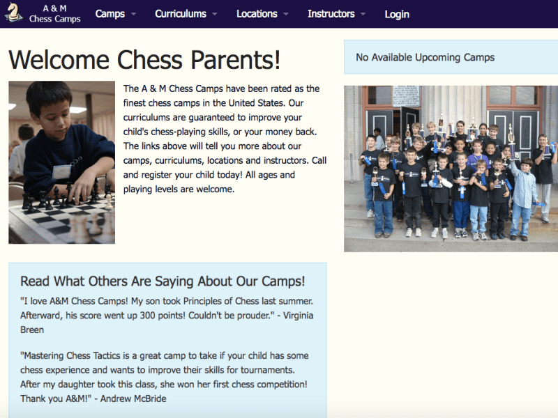 A&M Chess Camp