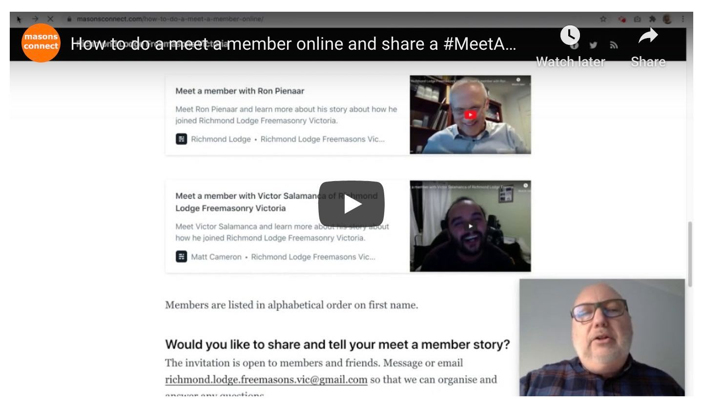 How to do a meet a member online