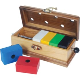 Color block escape wood