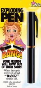 Exploding Pen W/Caps