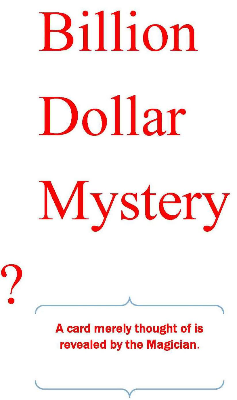 Billion Dollar Mystery