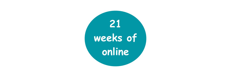 🎉 Celebrating 21 weeks of online