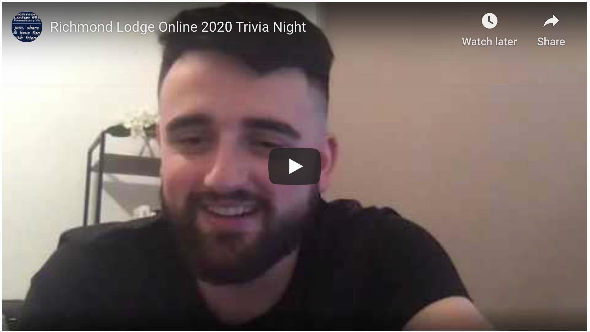 Richmond Lodge Online 2020 Trivia Night