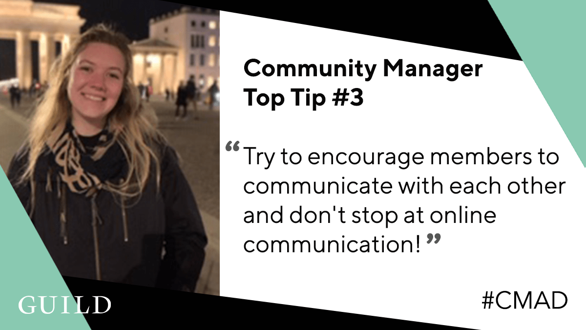 Rosey Jarvis, Community Manager for HR Punks shares a community management tip #CMAD