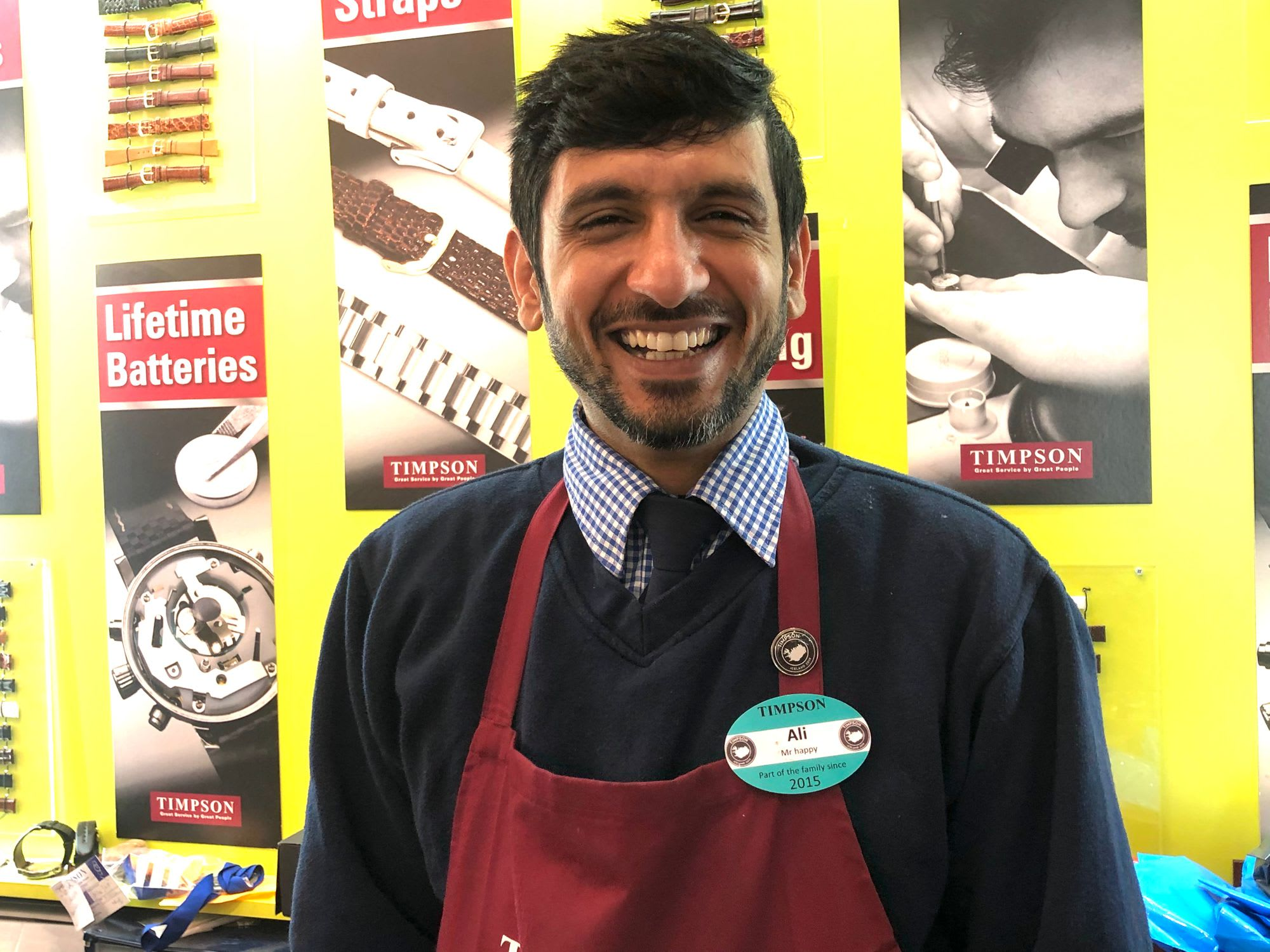 Timpson employees like Ali give exceptional customer service