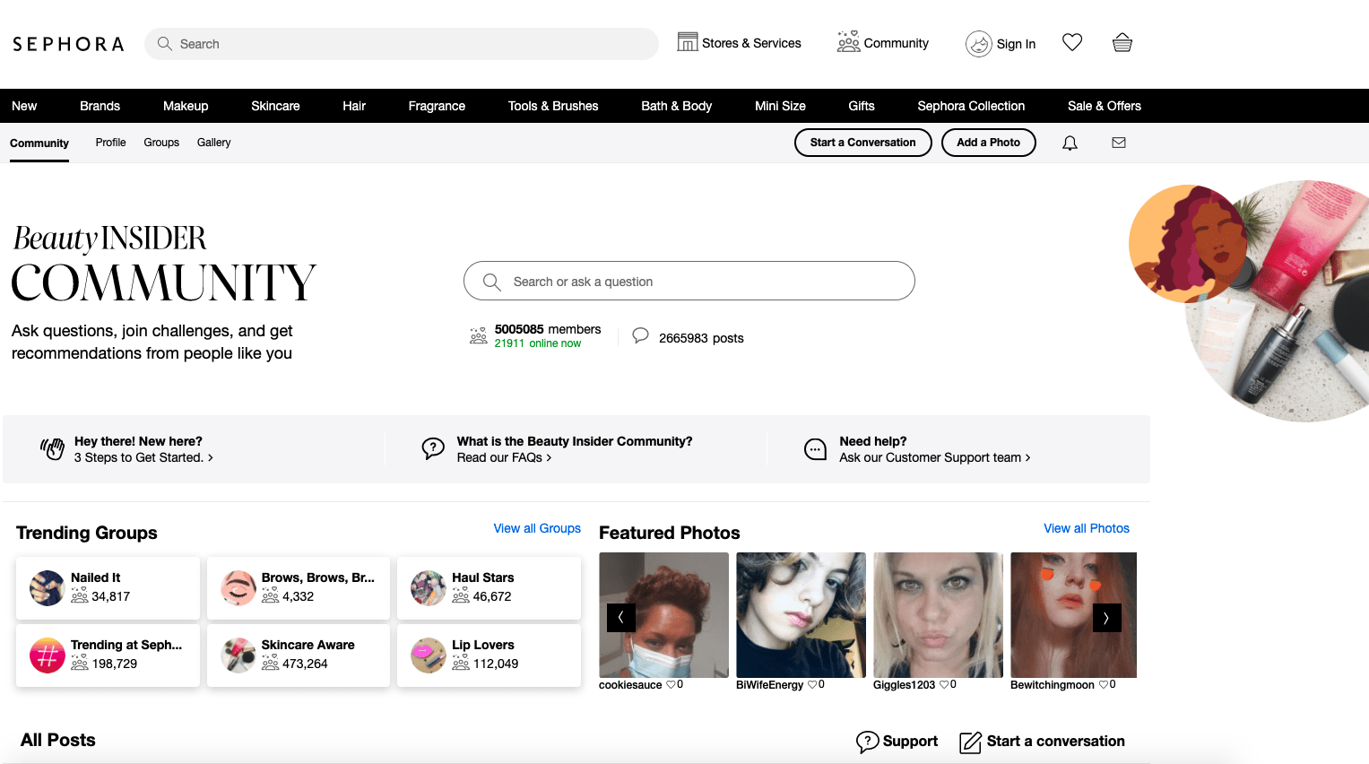 An example of a Community of Product - Sephora's Beauty Insider Community