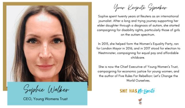 Sophie Walker Young Women's trust CEO
