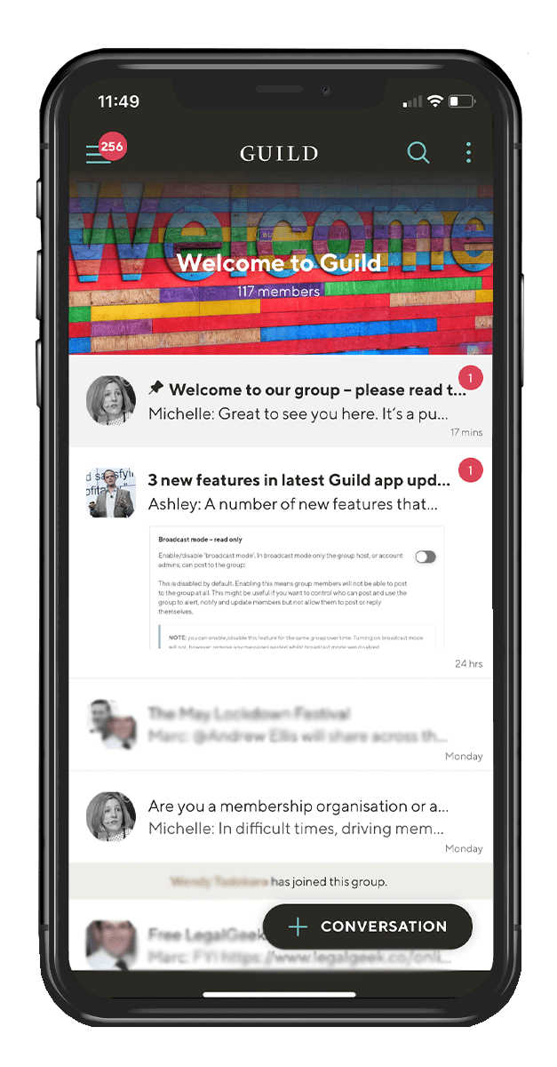 Professional Messaging App Guild - Welcome to Guild group