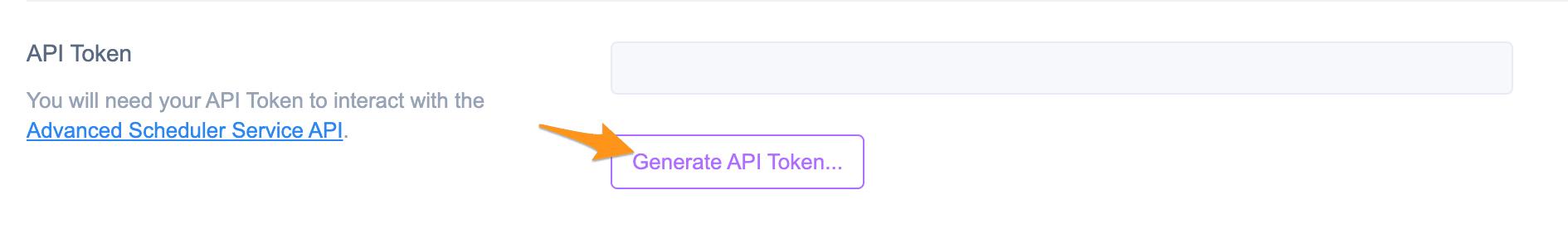 Generate API Token