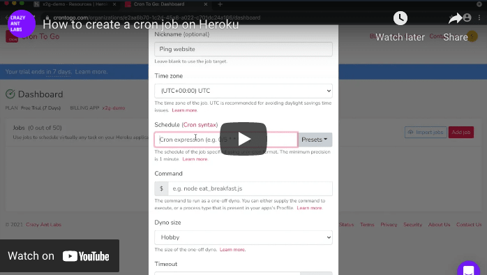 How to create a Cron job on Heroku [video]
