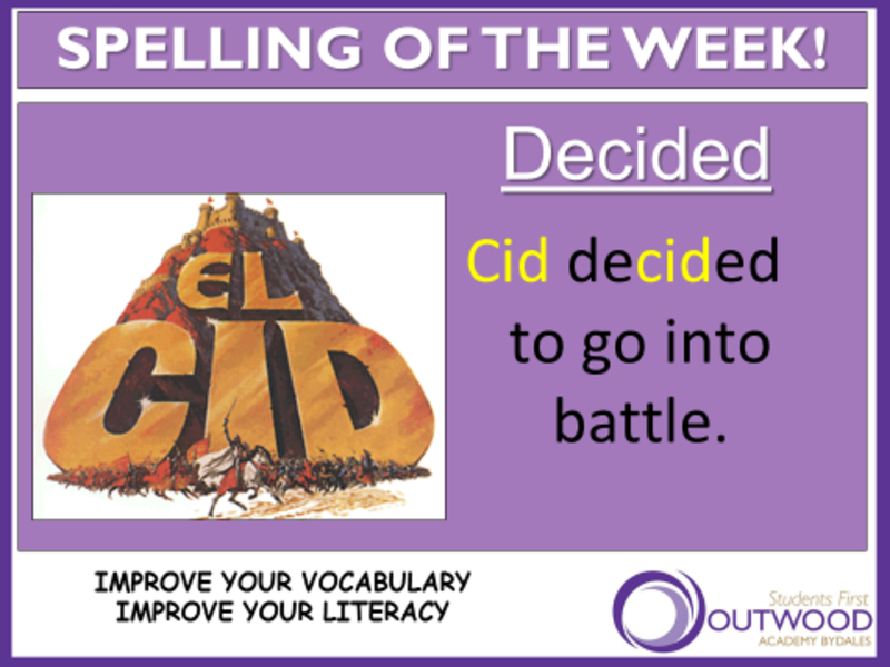 Words of the Week - week commencing 30 October - Outwood