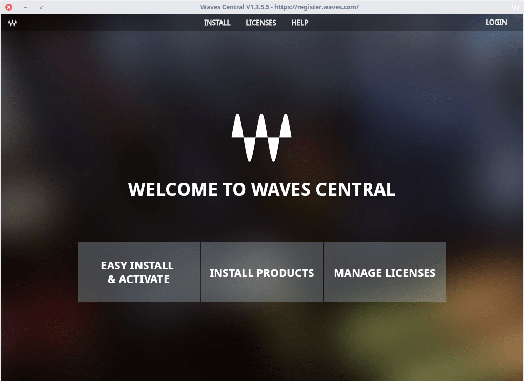 Installing Waves plugins from Waves Central via Wine