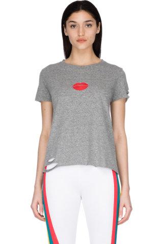 f8c44387162 Wildfox - Pucker Up Stellar Crew Neck T-Shirt - Heather Grey