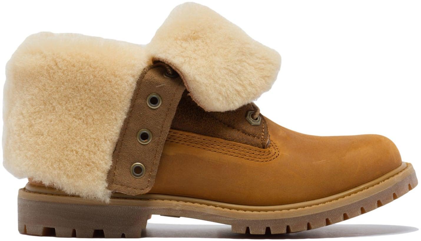 Authentics Shearling Fold Down Timberland Wheat Boots XiOTkZwPu