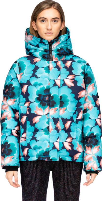 5cca0bac28a1 Kenzo   Indonesian Flower  Hooded down Jacket - Navy Blue