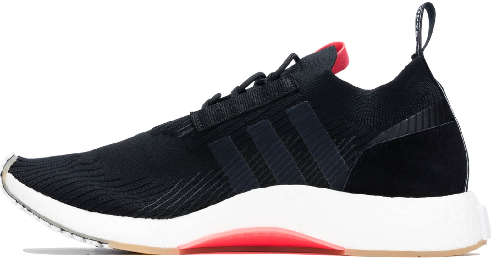 ce5a899891bef adidas Originals  NMD Racer Primeknit - Core Black Core Black Flash Red