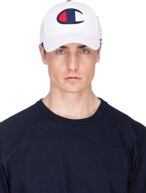 3cec0f16a5d Champion  Twill Mesh Dad Cap - White