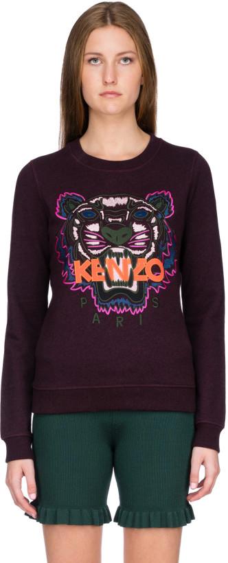 6d706259 Kenzo: Tiger Pullover - Prune | Influence U