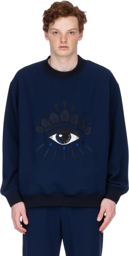 9072fc3661fd Kenzo  Pullover Oeil – Bleu Marin   Influence U