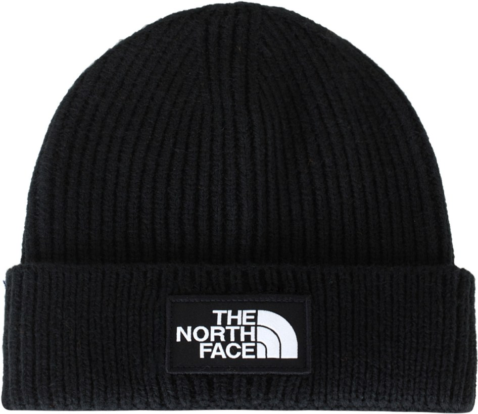 the North Face  Logo Box Cuffed Beanie - Black  7f6b908251ed