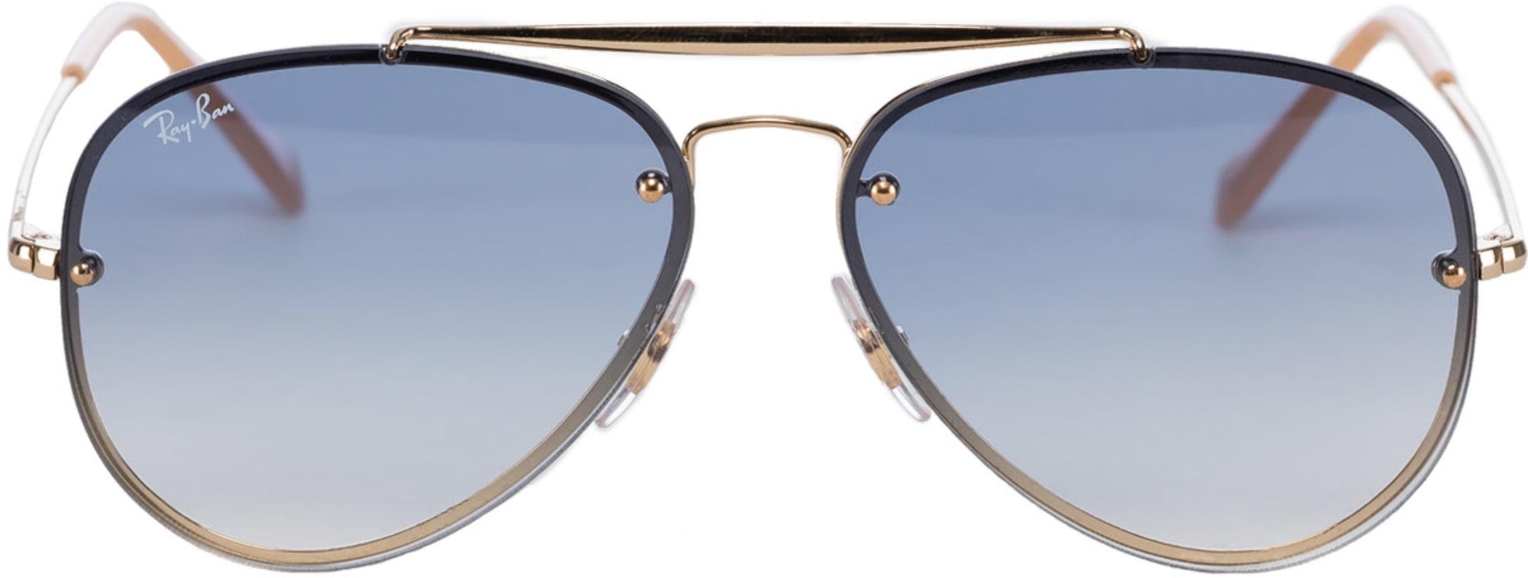 c7548adff9ea Ray-Ban: Blaze Aviator Sunglasses - Gold/Light Blue Gradient ...
