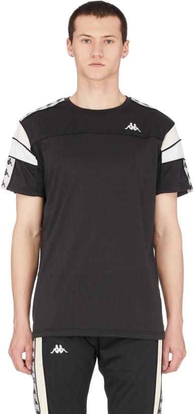 ebc0e0ca26 Kappa - 222 Banda Arar T-Shirt - Black/Grey Silver/Beige