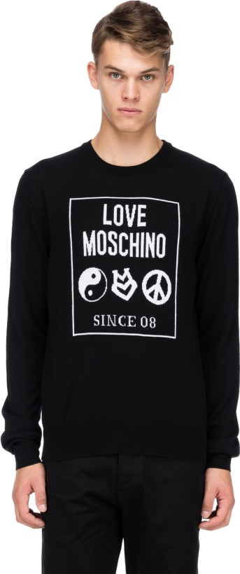 e9e8cdde0d4 Love Moschino: Yin-Yang Knit Pullover - Black | Influence U