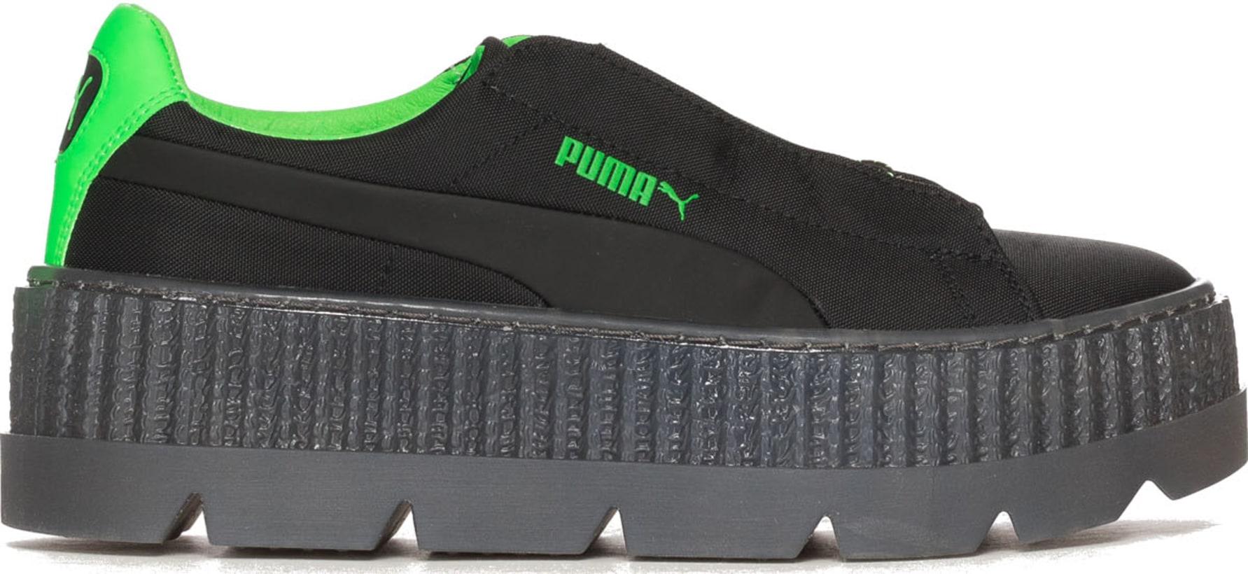 wholesale dealer 26427 9e89c Puma - Fenty Cleated Creeper Surf - Black/Green Gecko