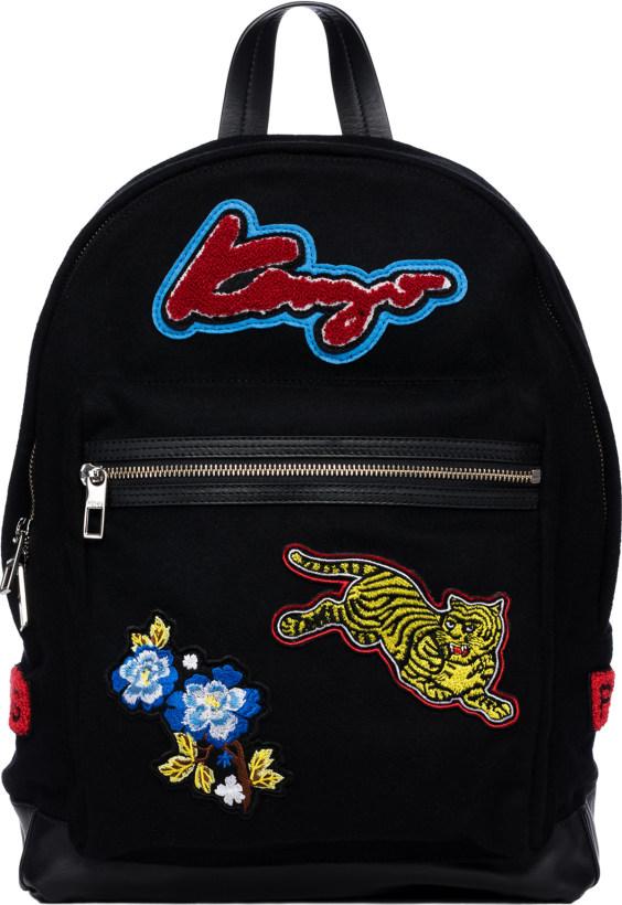 2ae3d1a9 Kenzo: Logo Patch Backpack - Black | influenceu